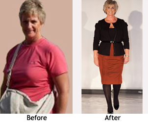 Vicki before and after her Fashion stylist makeover