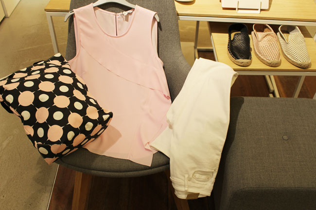 country Road top $129, jeggings $119, tote $59 and hat $99.95