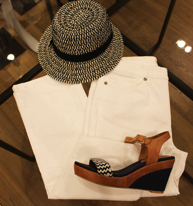 Sportscraft jeans $139.95, shoes $119.95 and hat $49.95