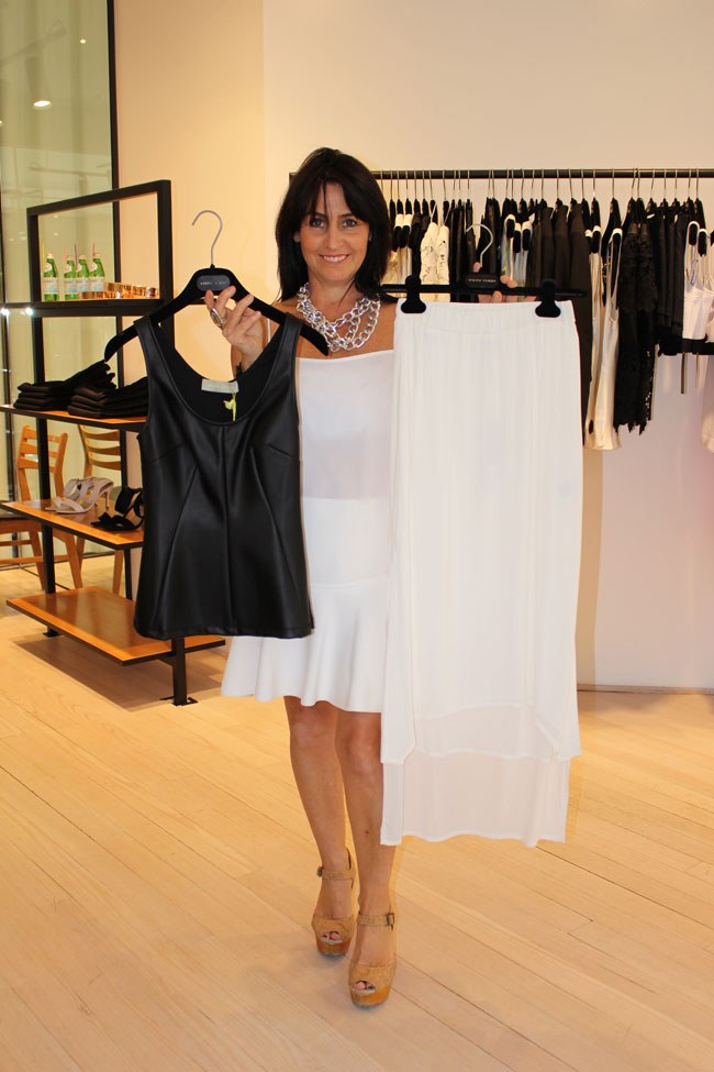White Suede top $189 and skirt $269