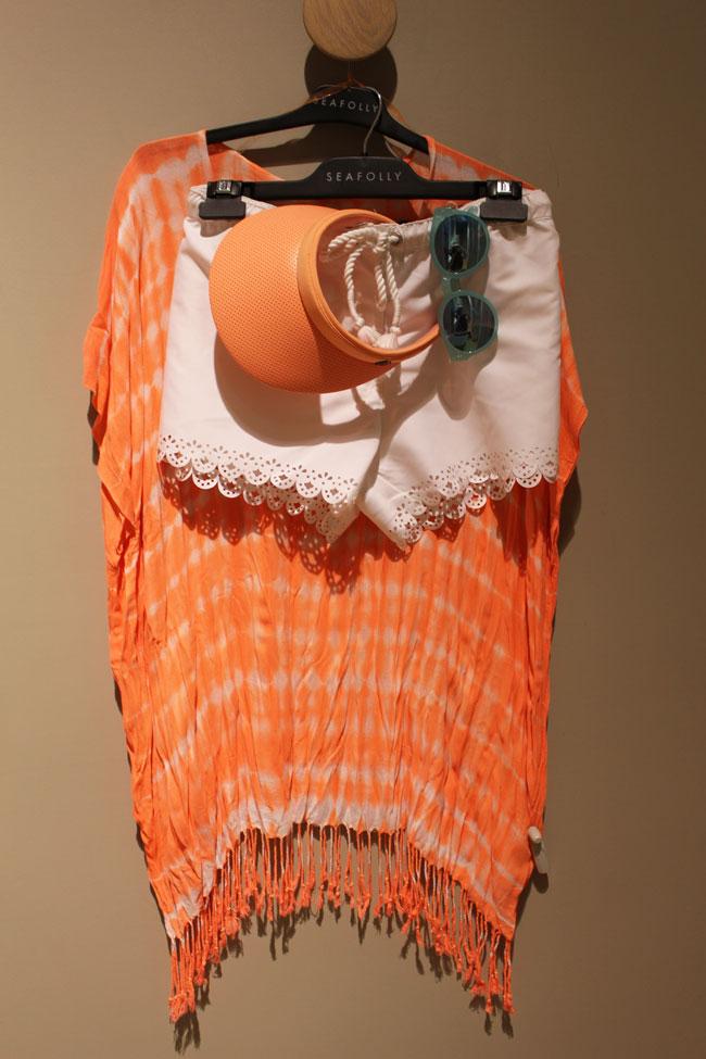 Seafolly shorts $59.95, kaftan $54.95, visor $34.95 and sunnies $69.95