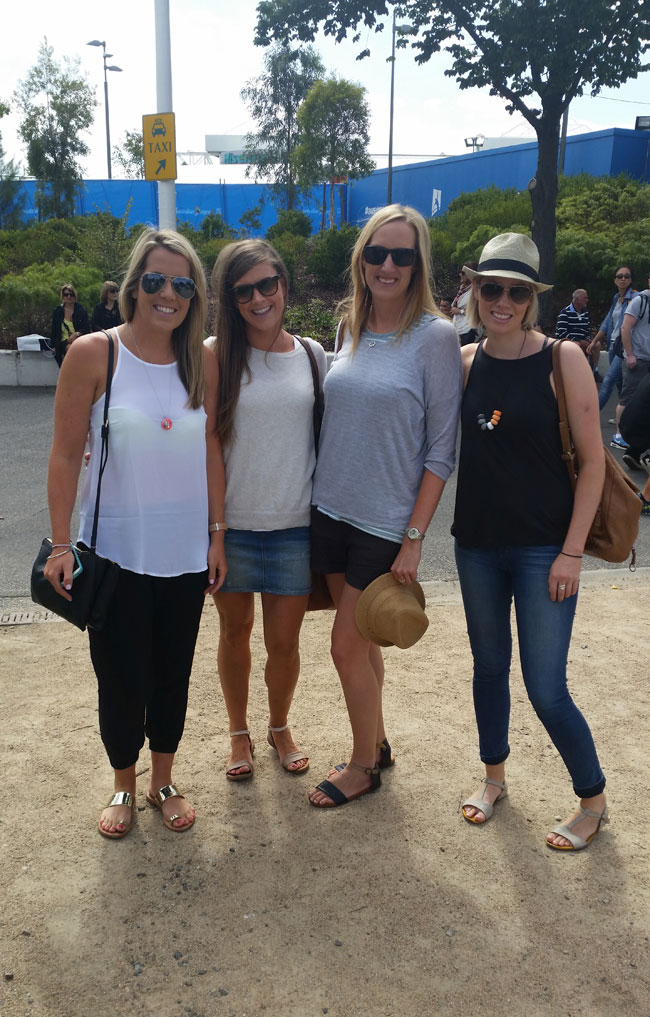 "Stephanie, Emily, Lindy and Steph - ""weather, comfort, sunburn and to look good"""