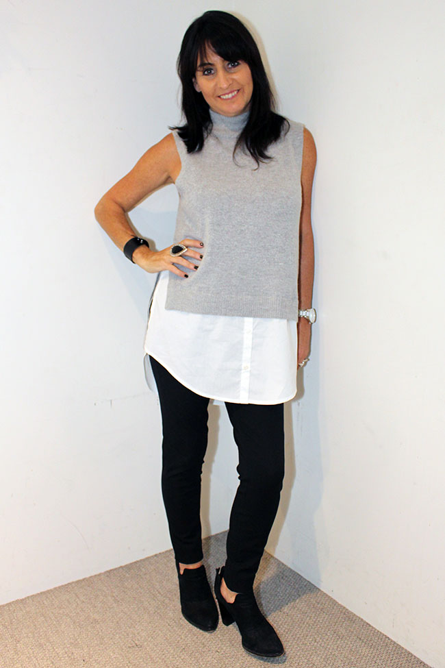 French Connection knit $99.95 and pants $129.95