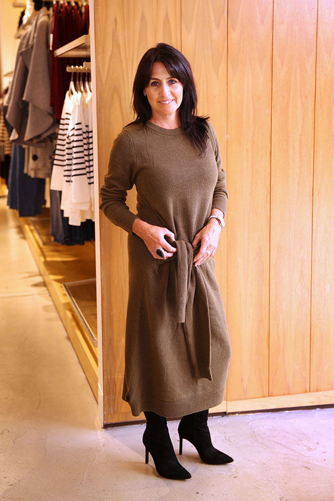 Country Road dress $179 with Jo Mercer boots