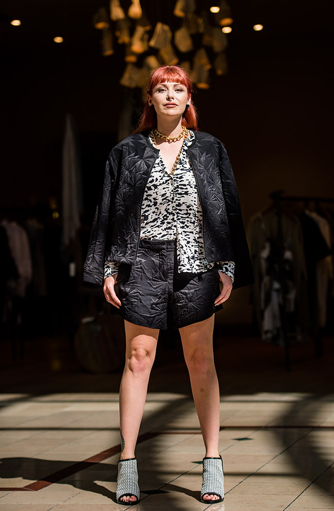 Life with bird shorts $320 with jacket $550, top $295 and shoes $495