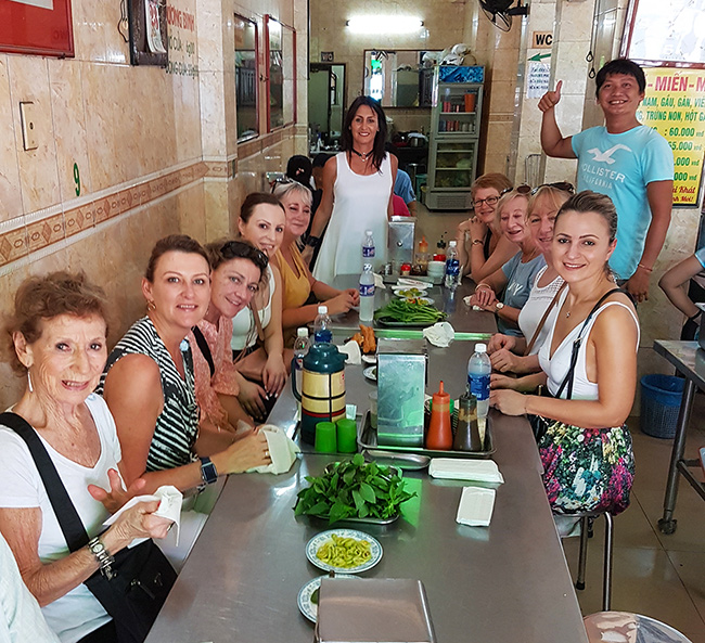 Traditional Pho lunch in Saigon