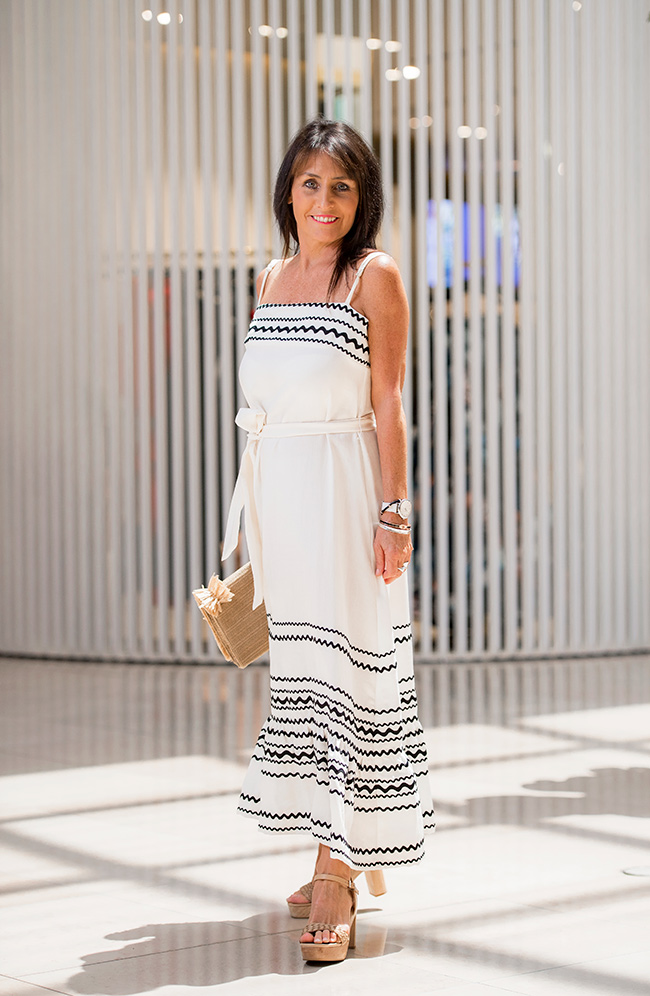 Cindy in Sheike White Maxi Dress