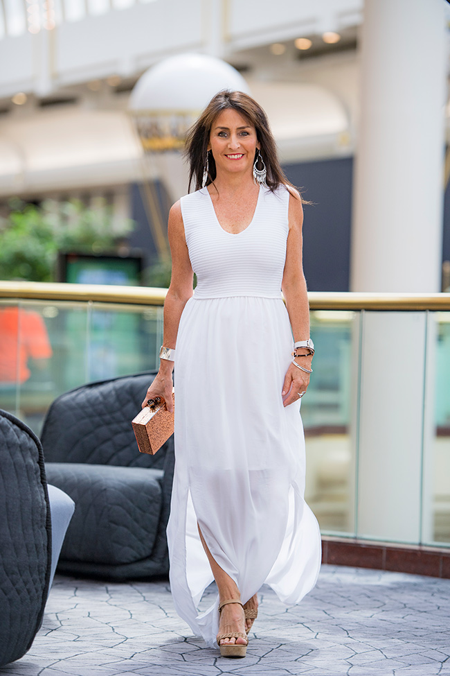 Cindy in Witchery White Dress