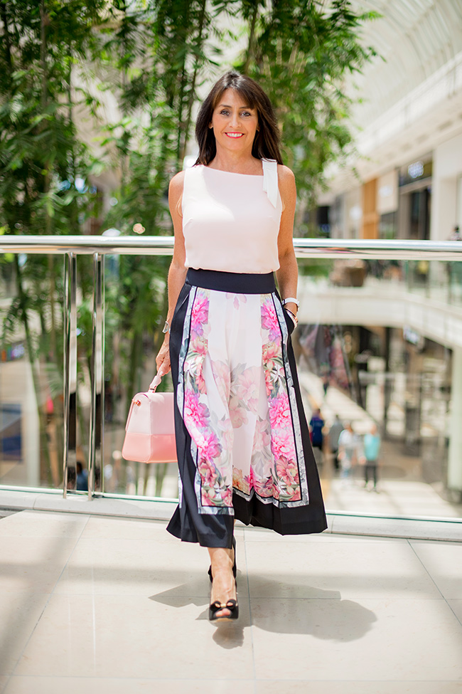 Cindy in Ted Baker Culottes & Top