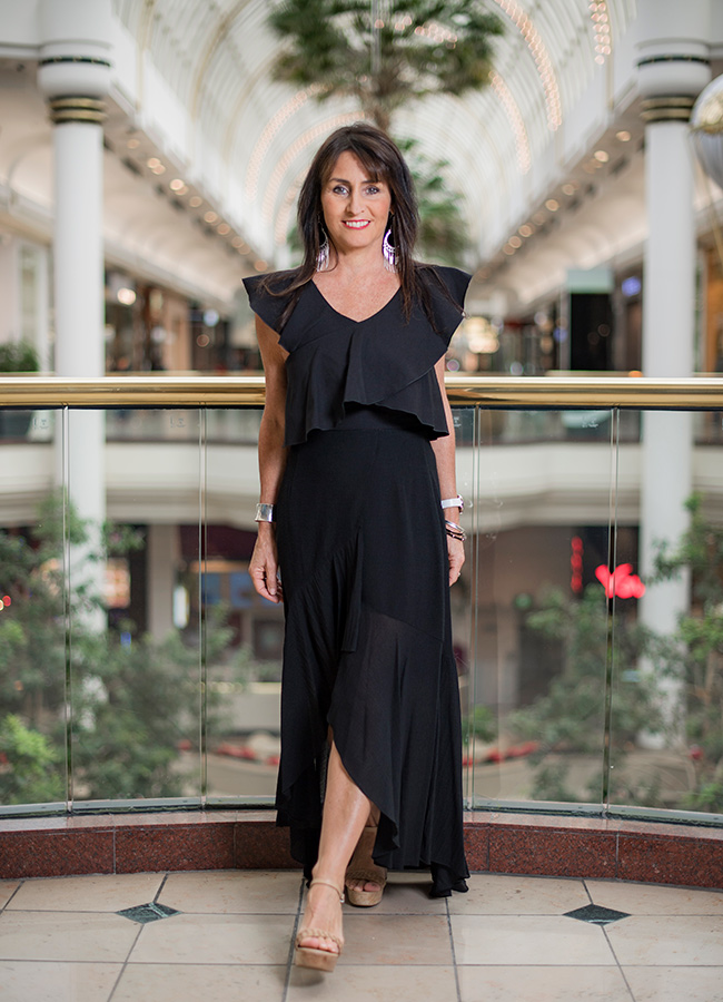 Cindy in Black Maxi Dress