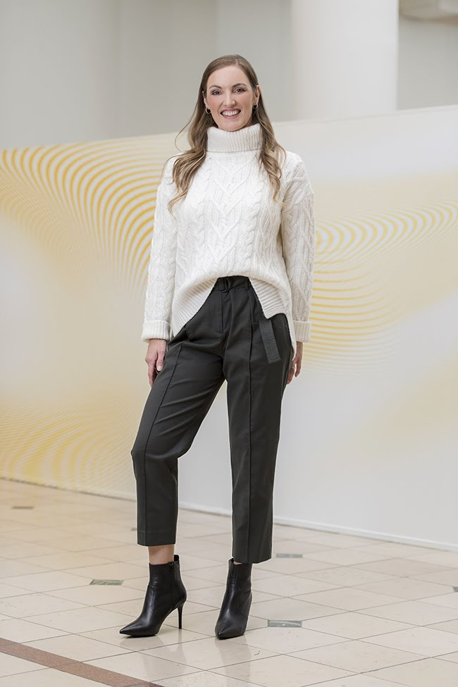 Natalie in Witchery Utility Pants