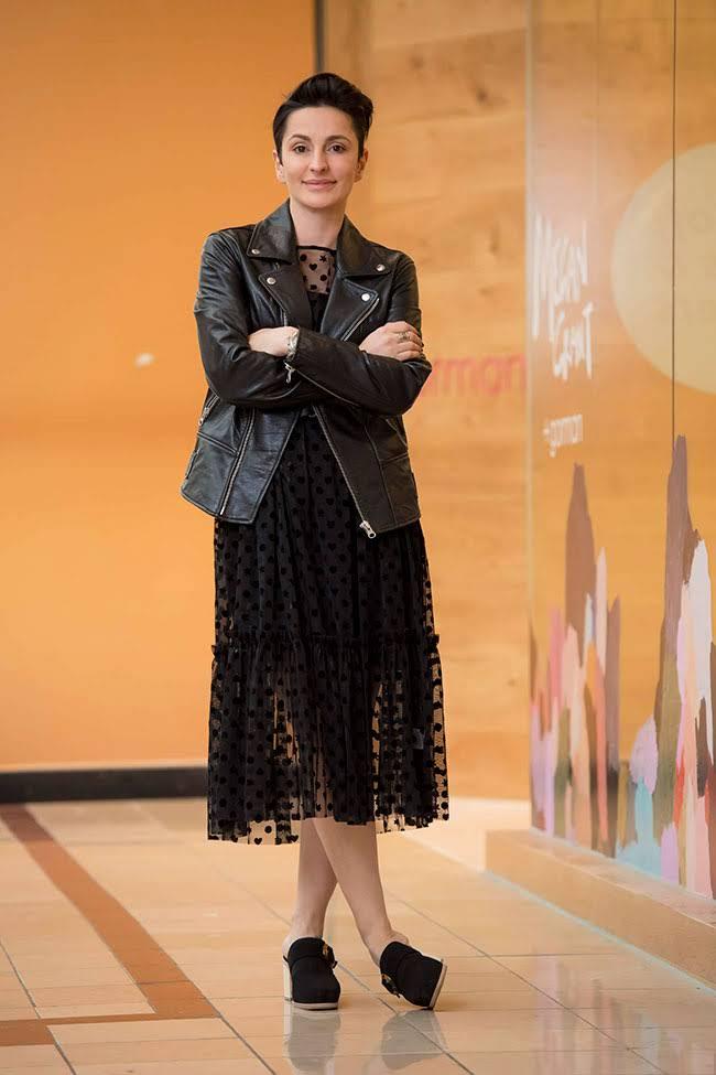 Vanessa in Gorman Leather Jacket