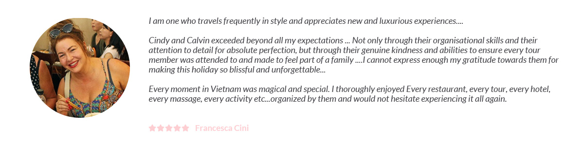 Francesca Cini Testimonial