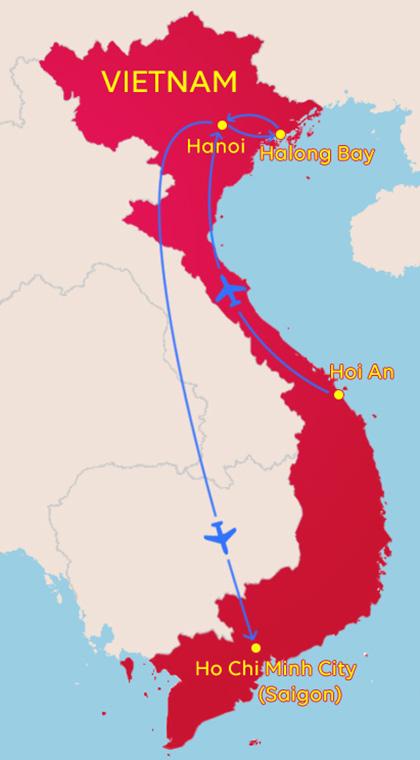 Vietnam Tour 2 map