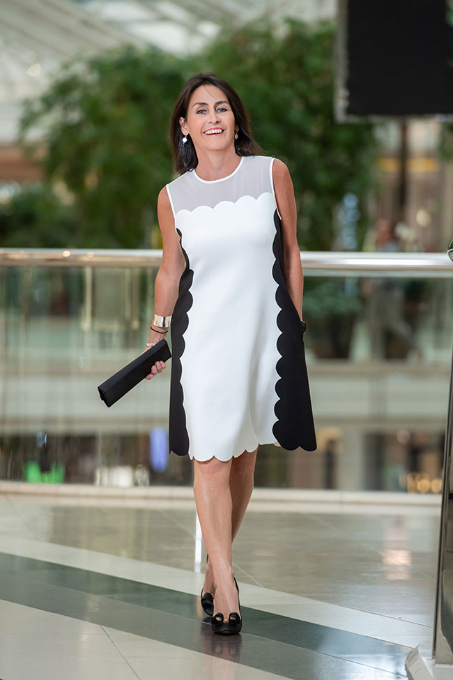 Black and White scalloped Dress Ted Baker Berri Dress and Shoes