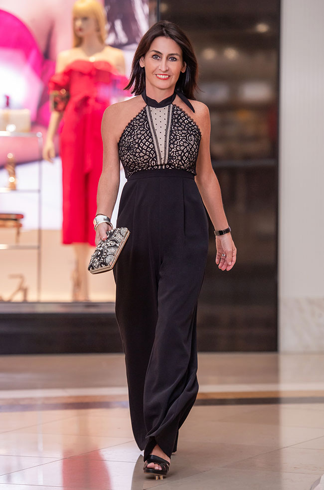 Cin Black Jumpsuit Forever New Hayley Jumpsuit and Jo Mercer Shoes