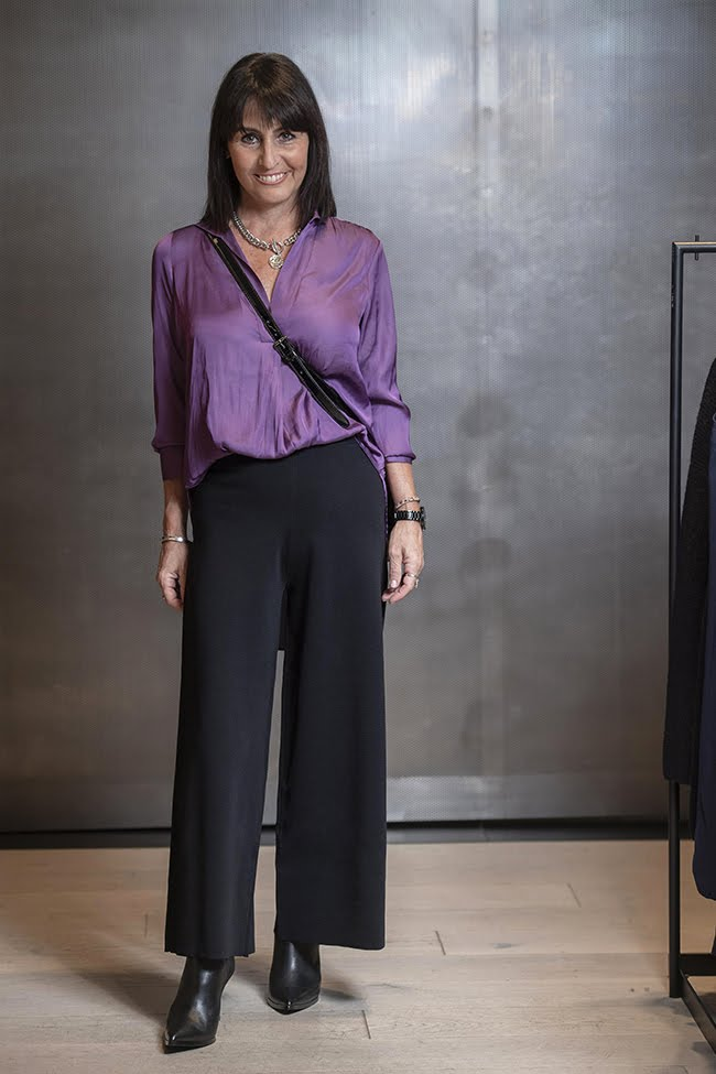 Cindy in Witchery Purple Top & Pants