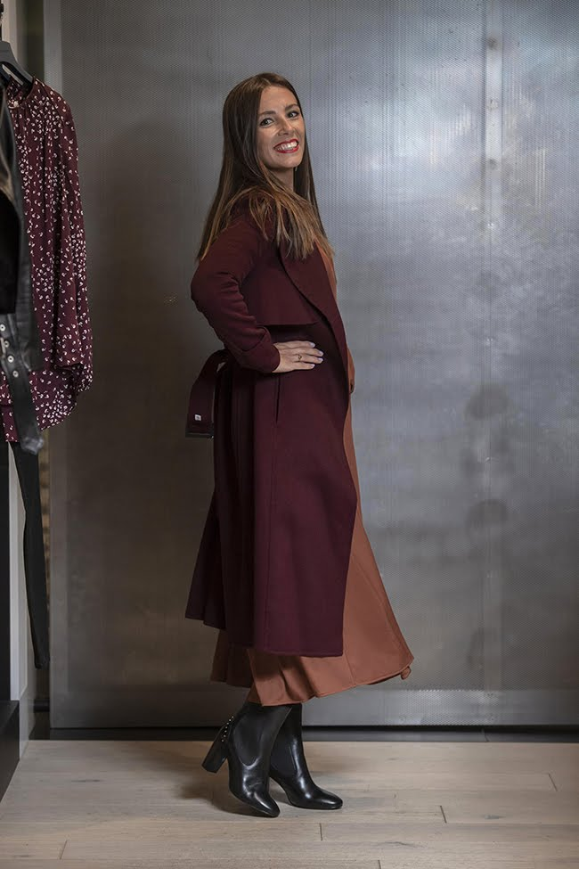 Witchery Cardigan, Dress and Jo Mercer Boots