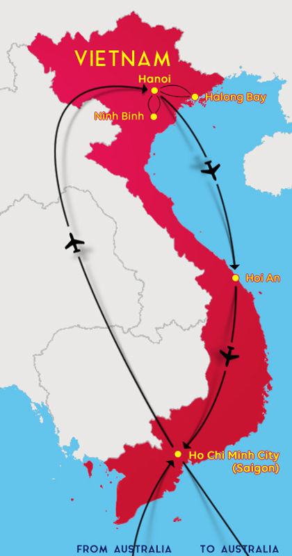 Vietnam Tour 2020 Map