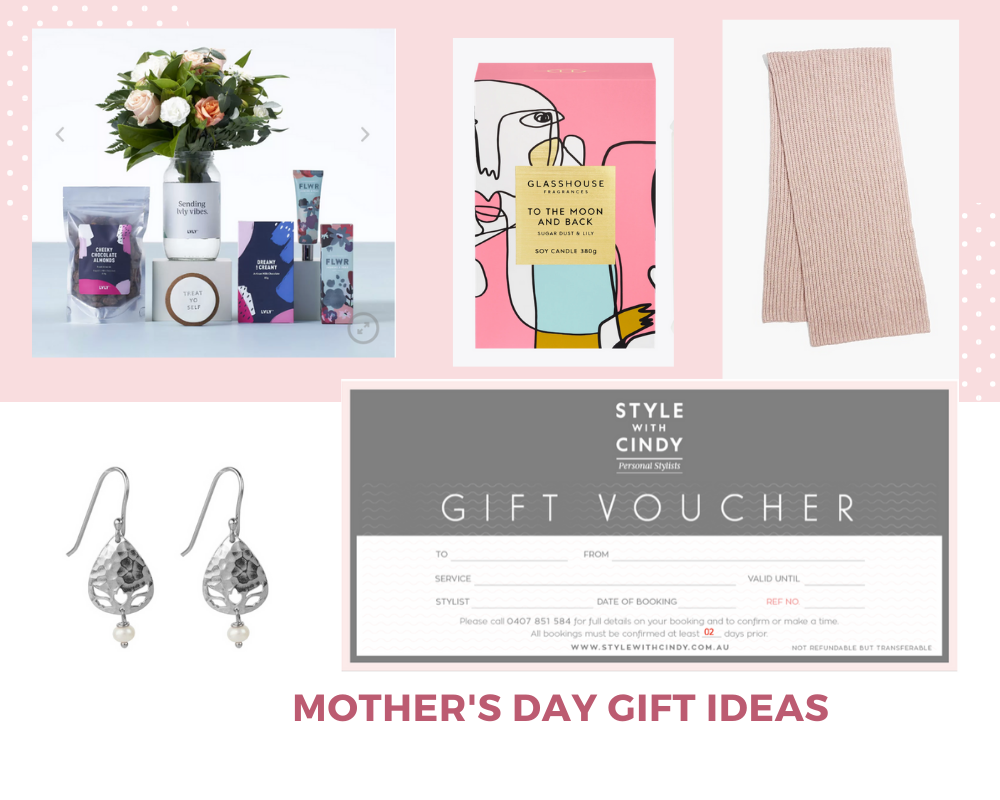 Lvly flower delivery, Glasshouse Candle, Country Road Scarf, Nicole Fendel Earrings, Personal Styling Voucher